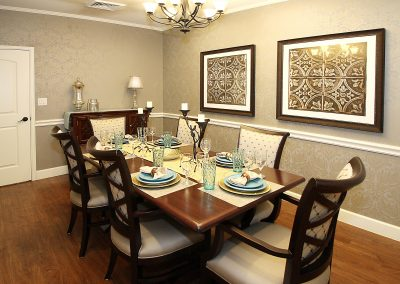 The private dining room at Pecan Ridge Memory Care